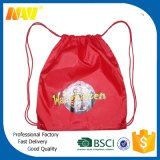 Impressora a cores completas Sublimação Polester Nylon Drawstring Backpack Bag