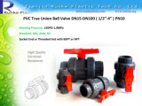 Union Plastic PVC Double Ball Valve