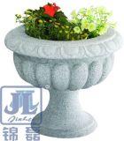 Het witte/Grijze Graniet van de Tuin/van de Werf/de Marmeren Planter van het Beeldhouwwerk