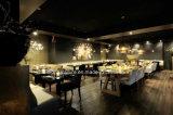 (SD-1011K) Restaurante del hotel que cena los muebles fijados para el sofá de cuero de madera de la cabina