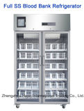 4degree Stainless Steel血液銀行Refrigerator (120L、310L、400L、500L、1000L)