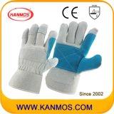 Luvas dobro do trabalho da segurança industrial de couro rachado do couro da palma (11013)