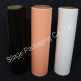 까만 주황색 사일로에 저항한 꼴 필름, 500mm*25mic*1800m는, 농장 패킹을%s 100%LLDPE 필름을 재생한다
