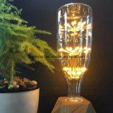 Lâmpada LED MTX A19 T45 ST64 G80 G95, Vidro Amber, 3W Dimmable Edison Spiral Filament Lâmpada LED, Super quente 2200K, E26 Base E27, Ampola doméstica decorativa