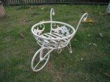 Supporto della piantatrice del carretto del giardino con figura della bicicletta