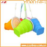 Cuvettes se pliantes de catégorie comestible de silicones, prise facile (XY-FC-171)