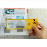 85*55mm in Scheckkartengrößevergrößerungsglas der Gutschrift-3X, Plastikfresnel-Objektiv-Vergrößerungsglas Hw-805