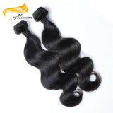 ボディ波の自然な未加工バージンのモンゴルの毛のよこ糸