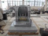 Светлый памятник китайского типа гранита G603 с скульптурой львов