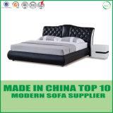 Het beste Bed van het Leer van de Verkoop Zachte Comfortabele Moderne
