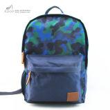 青のカムフラージュは男の子のための学校のバックパックに戻ってポリエステルを印刷した
