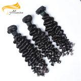 Soem-Fabrik-Preis brasilianische schwarze Remy Haar-Extensionen
