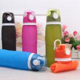 Grandi bottiglie di acqua personalizzate del silicone della Largo-Bocca