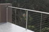Pasamano del cable del acero inoxidable para las escaleras