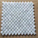 Mosaico de mármol blanco de Bianco Carrara para la pared del cuarto de baño
