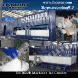 Máquinas de fatura de gelo do bloco que fazem a planta