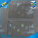 Etiquetas engomadas olográficas claras de encargo del recubrimiento para las tarjetas