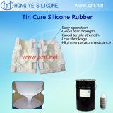 原料のシリコーンゴムの液体を作る彫刻型