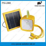 Éclairage solaire actionné léger proche portatif de panneau solaire avec le MP3