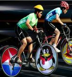 в свете колеса Bike велосипеда 216LED штока DIY Programmable цветастом