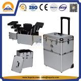 알루미늄 메이크업 아름다움 트롤리 상자 (HB-3223)