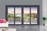 Puerta deslizante de la puerta de aluminio llena de la variedad