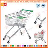 Form-Metallsupermarkt-Einkaufen-Laufkatze mit Korb (ZHt266)