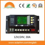 (HM-30A) regolatore di energia solare dell'affissione a cristalli liquidi di 12V/24V 30A