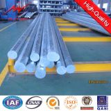 El 11.8m octogonal Galvanized Steel Tubular poste con Cross Arm