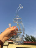 الصين مصنع [18ينش] 55 قطر [5ثيكنسّ] لولب ملف زجاجيّة ماء [سموك بيب] لون مظلة [بركلتر] يد يفجّر أنابيب زجاجيّة مع قبة