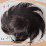 Non indiano Remy Hair Full Silicone Toupee per Men, Toupee del Men