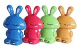 Rifornimento doppio della Banca di potere del USB del coniglio del fumetto del fornitore dell'OEM (PB-YD22)
