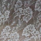 Evening DressのためのRaschel Woven White Lace Fabric