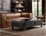 O sofá secional do couro genuíno do estilo de Anitque ajustou-se para a HOME (GLS-005)