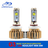 Lighting auto Hot Sell Golden LED Car Light 30W 3000lm H3 H7 9006 H11 LED Car Headlight