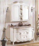 Moderner Entwurfs-klassischer Spiegel-fester hölzerner Badezimmer-Schrank (LZ-134)