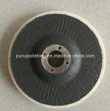 Чувствуемый полируя диск с затыловкой волокна