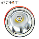Archon 1200 루멘 자석 회전하는 반지 스위치를 가진 찬 백색 6500k LED 잠수 플래쉬 등