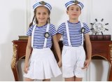 Garçon d'école primaire élégant personnalisé de mode et uniforme S53109 de la fille