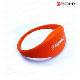 Wristband impermeabile/braccialetto del silicone elastico RFID di stampa di marchio