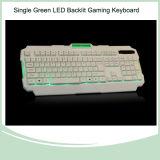 역광선 Backlit 도박 키보드 다중 매체 (KB-1901EL-G)가 세륨 RoHS 증명서 104 키에 의하여 녹색이 된다 LED