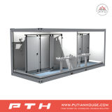 Conteneur modulaire personnalisé de toilette de Prefabricatd de norme de l'OIN