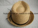 자연적인 색깔 중절모 모자를 가진 100%년 라피아 야자 밀짚 유유한 작풍