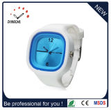 Madame neuve montre de cristal de montre de silicones de Genève de gelée de mode de modèle