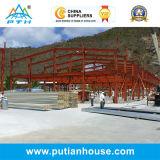 Entrepôt préfabriqué de structure métallique de coût bas de norme de l'OIN
