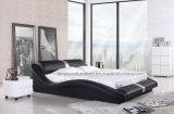 A070 جلدية الأثاث الخشب تصاميم سرير
