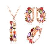 입방 Zircon Pendant 또는 Earrings/Ring Women Wedding Jewelry Sets (CST0030-A)