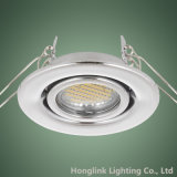 サテンNickel 230V Adjustable Recessed Ceiling Light Fixture LED Downlight
