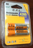 1.2V de Navulbare Batterij Ni-MH van aa 4300mAh