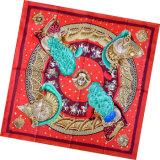 Sciarpa della signora Fashion Printed Silk Square (HC1304)